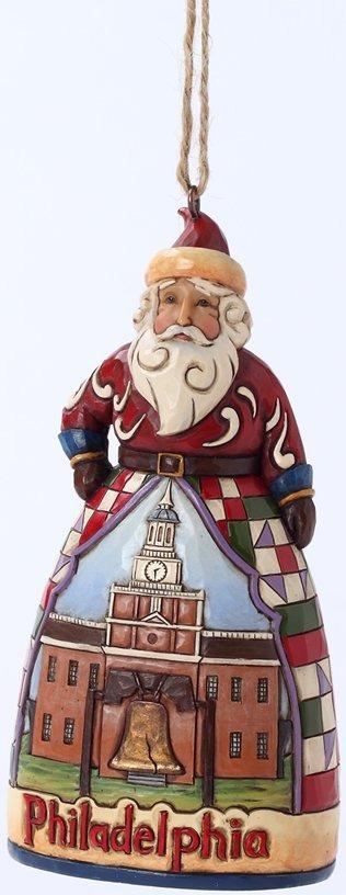 Jim Shore 4027748 Philadephia Santa Ornament