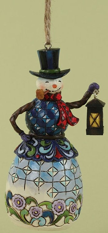 Jim Shore 4027751 Snowman w Lantern Ornament