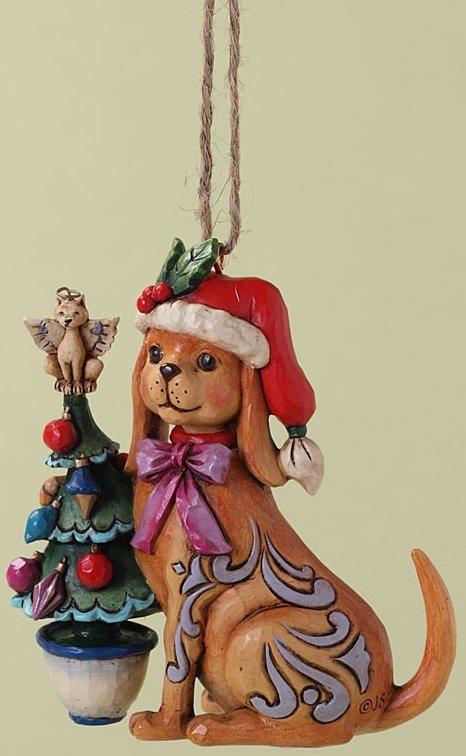Jim Shore 4027757 Christmas Dog Ornament