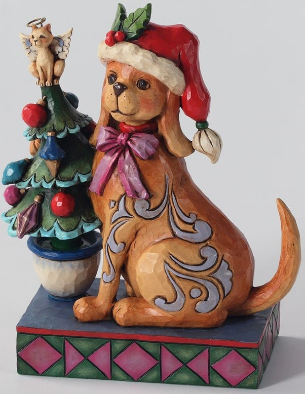 Jim Shore 4027767 Tails Wag for Christmas Figurine