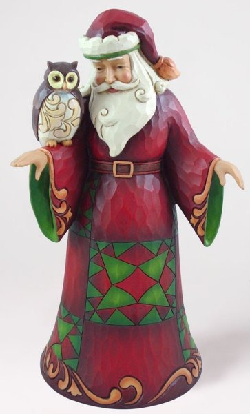 Jim Shore 4027792 Santa w Owl Figurine