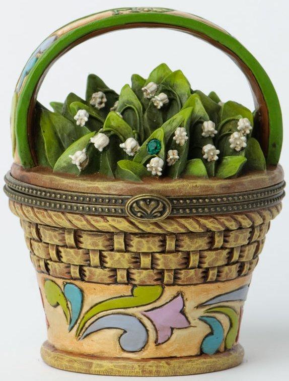Jim Shore 4027815 May Hinged Flower Covered Box