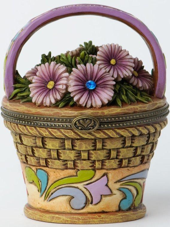 Jim Shore 4027819 September Hinged Flower Covered Box