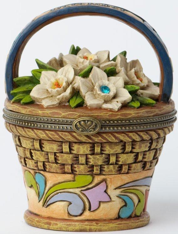 Jim Shore 4027822 December Hinged Flower Covered Box