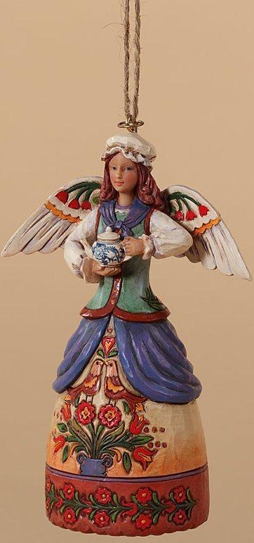 Jim Shore 4027826 Colonial Angel Ornament