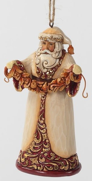 Jim Shore 4027847 Ivory and Gold Sant Ornament