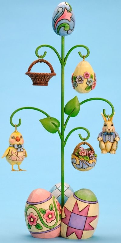 Jim Shore 4028530 Have a Tree-mendous Easter Figurine