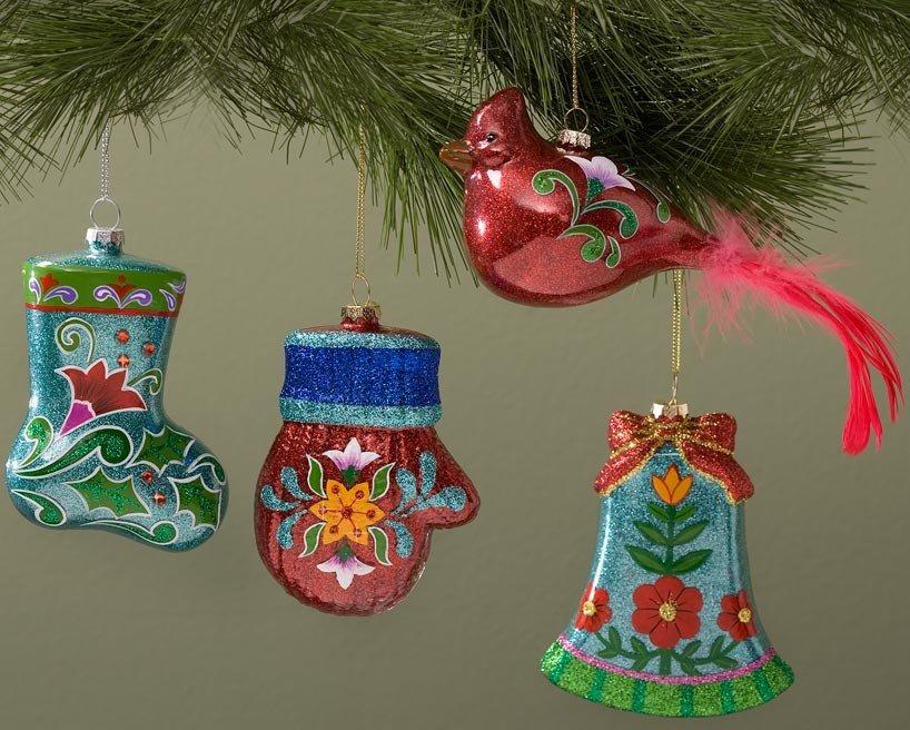 Jim Shore 4029508 4 Glass Ornaments Ornament