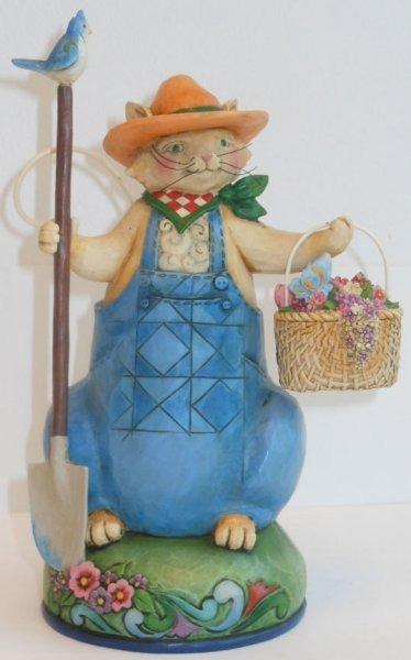 Jim Shore 4029842 Spring Summer Cat R Figurine