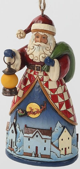 Jim Shore 4030239 Santa Night Village Hanging Ornament