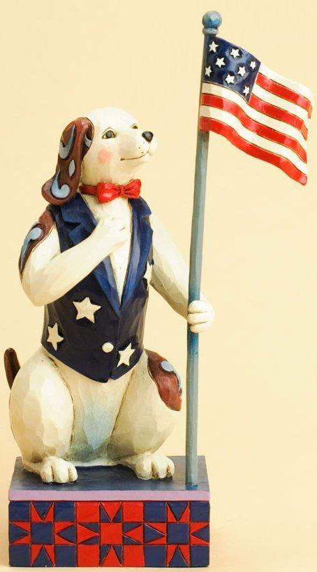 Jim Shore 4031205 I Pledge my Heart to America Figurine
