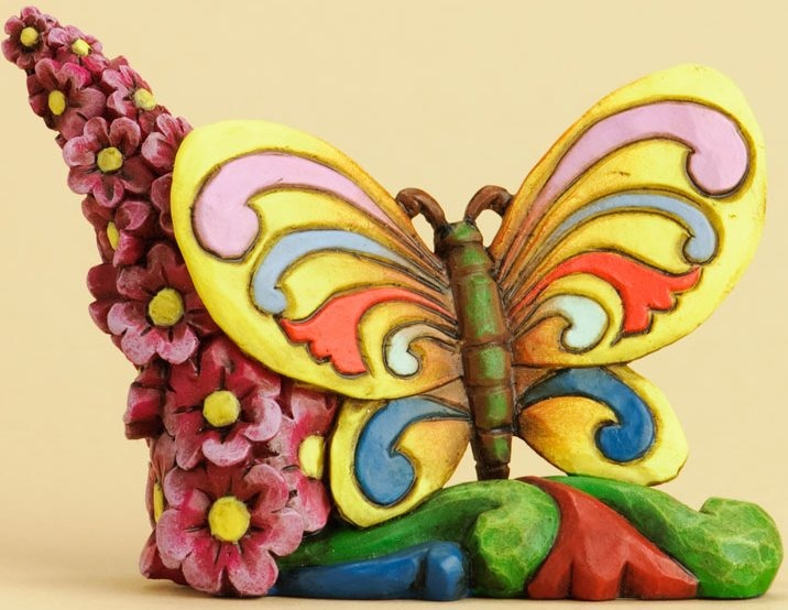 Jim Shore 4031229 Butterfly Flowers Figurine