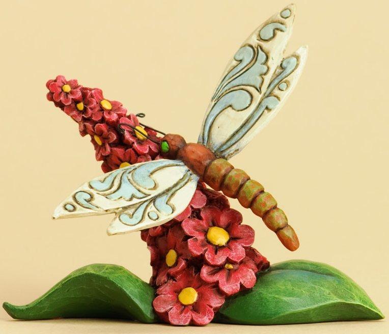 Jim Shore 4031230 Dragonfly Flowers Figurine