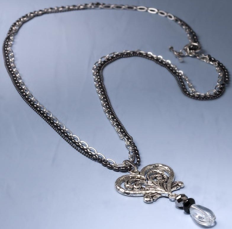 Jim Shore 4032489 Necklace Heart Filigree Necklace