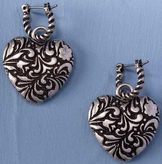 Jim Shore 4032508 Hoop Heart Earrings