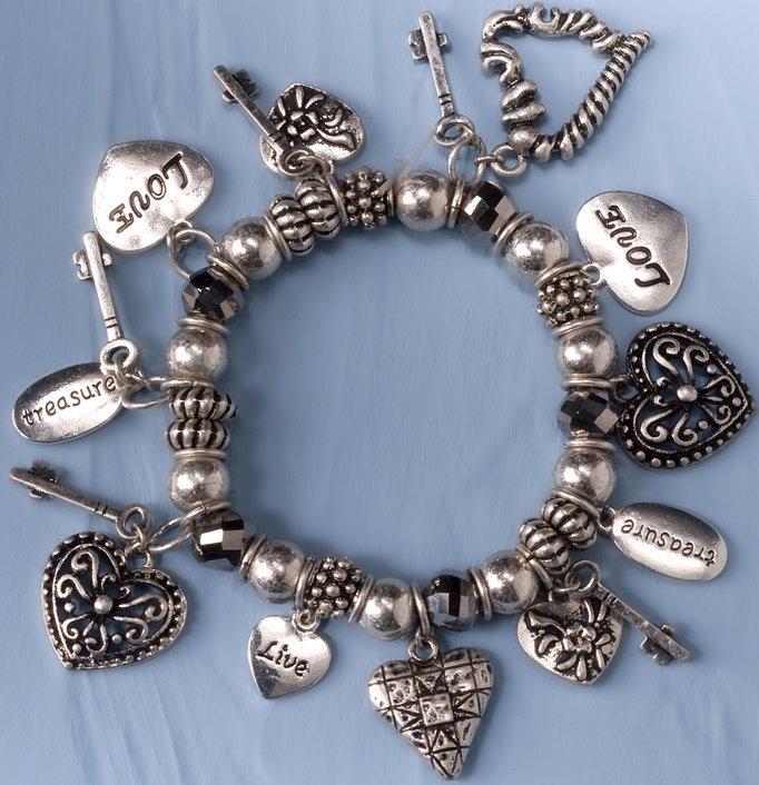 Jim Shore 4033295 Multi Hearts Bracelet Bracelet