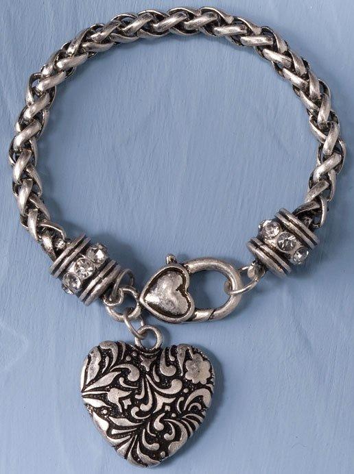 Jim Shore 4033298 Heart Bracelet Bracelet