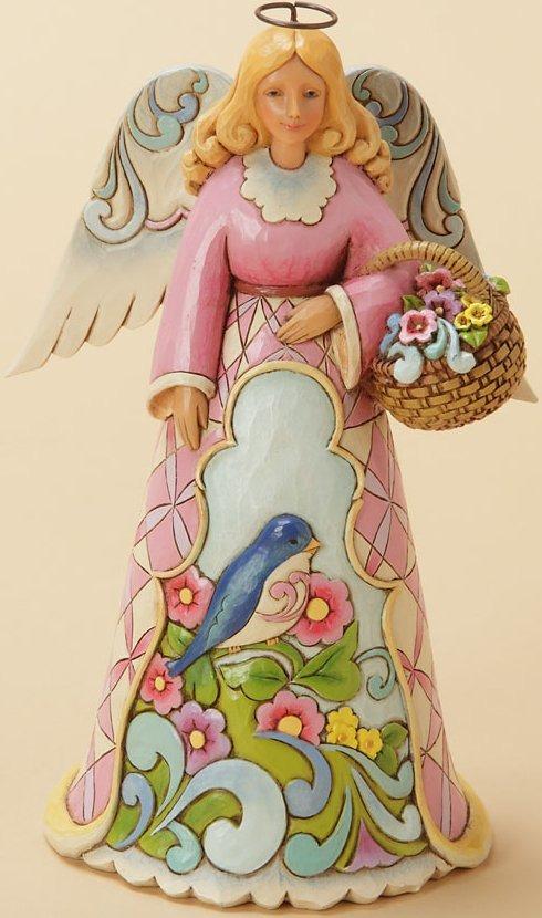Jim Shore 4033821 Spring Angel Blue Bird Figurine