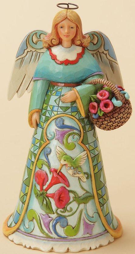 Jim Shore 4033822 Summer Angel Hummingbird Figurine