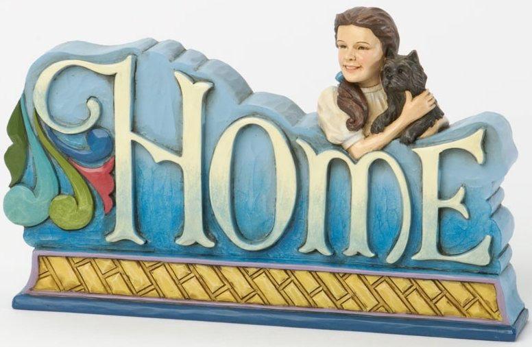 Jim Shore Wizard of Oz 4033977 Dorothy HOME word plaque Figurine