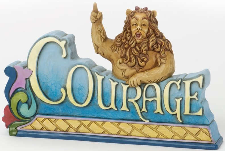 Jim Shore Wizard of Oz 4033980 Lion with Medal and crown Figurine