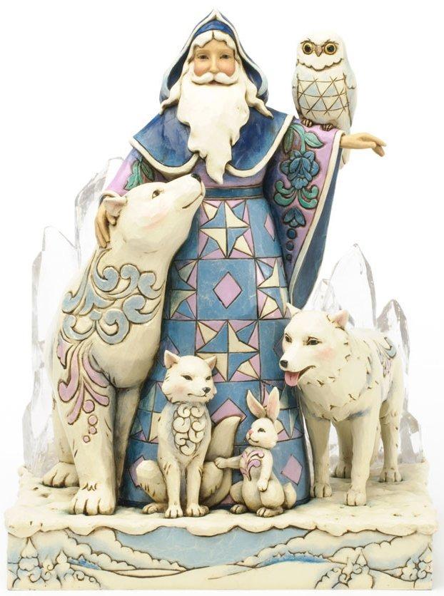 Jim Shore 4034355 Arctic Santa Masterpiece Figurine