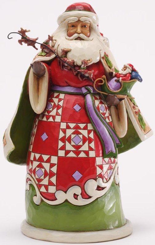 Jim Shore 4034358 Santa Holding Sleigh Figurine
