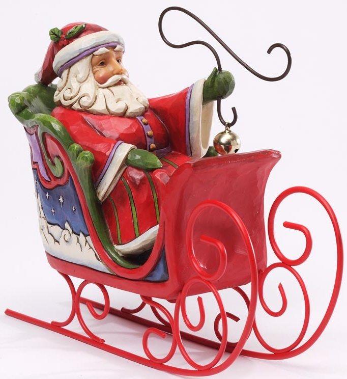 Jim Shore 4034361 Santa in Sleigh Figurine