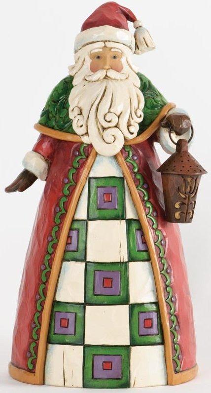 Jim Shore 4034362 Santa Holding Lantern Figurine