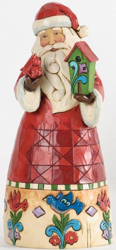 Jim Shore 4034363 Santa Birdhouse Figurine