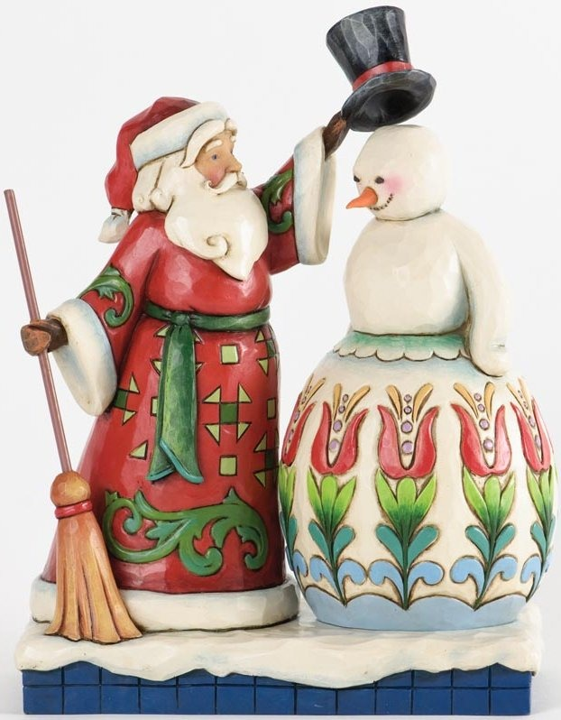 Jim Shore 4034364 Santa Building Snowman Figurine