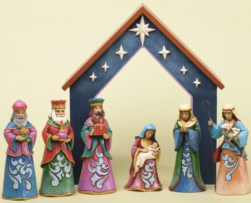 Jim Shore 4034380 Set 7 Nativity Figurines