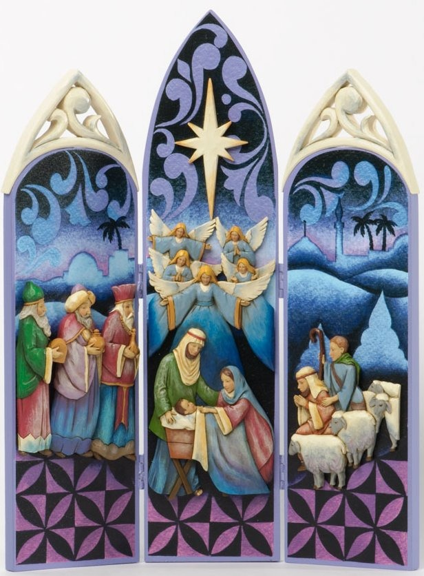 Jim Shore 4034385 Nativity Triptych Figurine