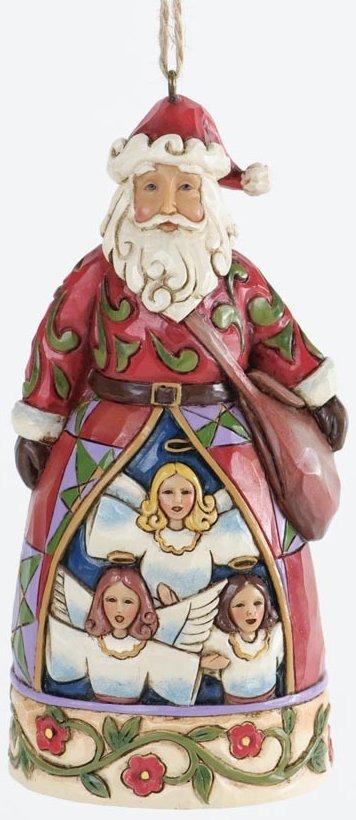 Jim Shore 4034397 Hark the Herald Santa Hanging Ornament
