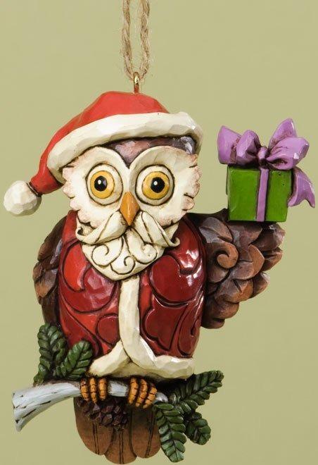 Jim Shore 4034412 Christmas Owl Hanging Ornament