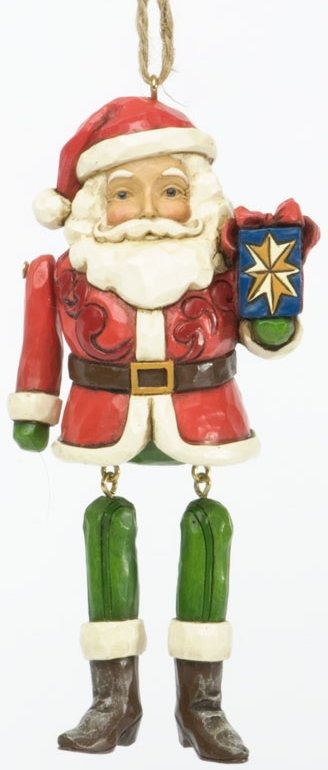 Jim Shore 4034415 Santa Dangling Arms Hanging Ornament