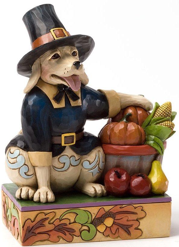 Jim Shore 4034443 Harvest Dog Pilgrim Figurine