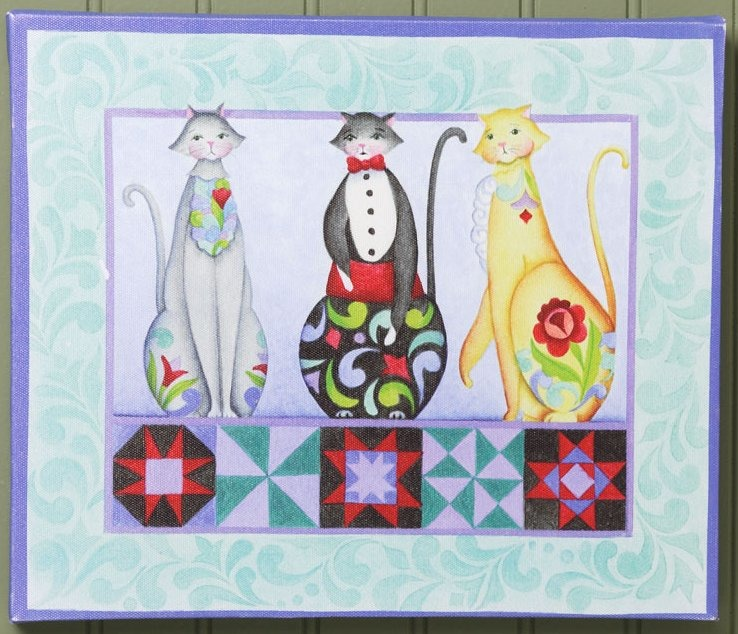 Jim Shore 4034852 JS Canvas Wall Decor Trio of Cats