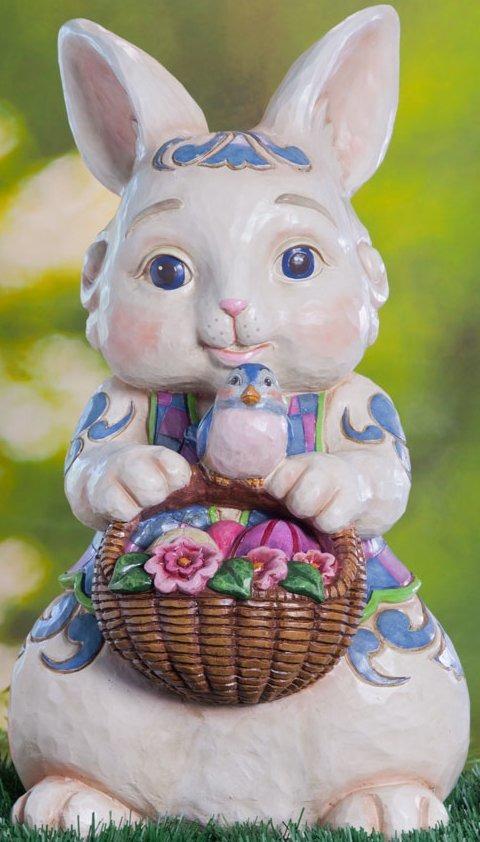 Jim Shore 4035132 Paper Pulp Bunny Statue