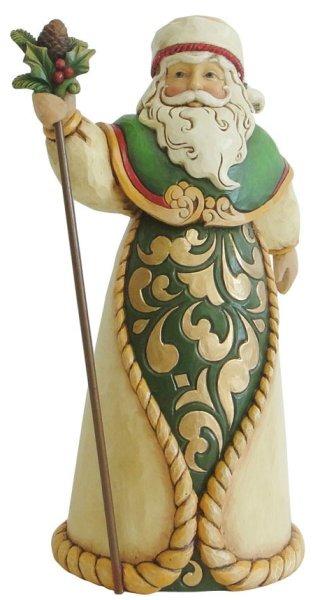 Jim Shore 4035389 Green Ivory Gold Sa Figurine