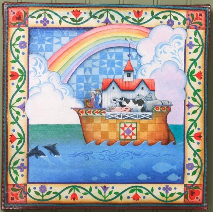 Jim Shore 4035437 JS Canvas Wall Decor Noah's Ark
