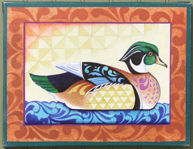 Jim Shore 4035439 JS Canvas Wall Decor Duck