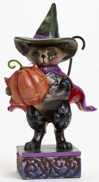 Jim Shore 4036236 Pint Halloween Cat Figurine