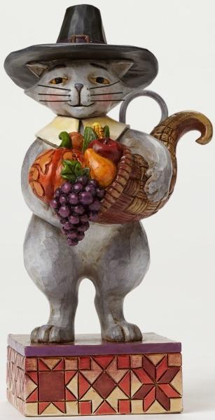 Jim Shore 4036237 Pint Harvest Cat Figurine