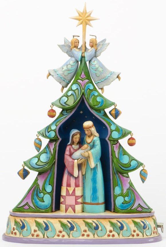 Jim Shore 4036685 Open Tree Nativity Musical Figurine