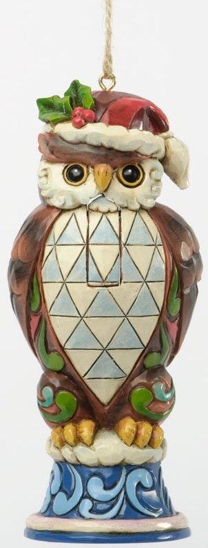 Jim Shore 4036691 Christmas Owl Nutcracker Hanging Ornament