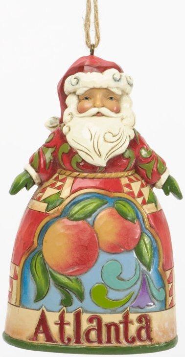 Jim Shore 4036692 Atlanta Santa Hanging Ornament