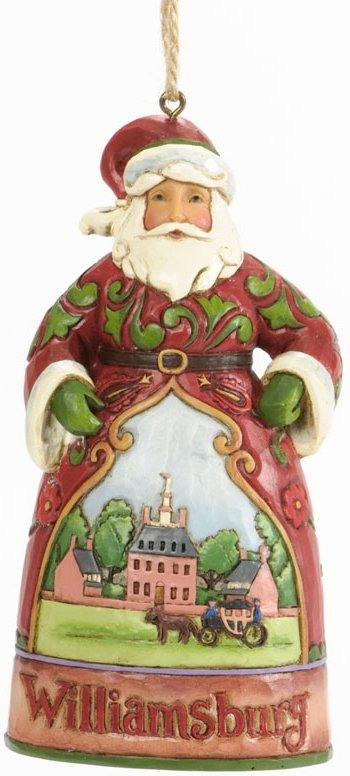 Jim Shore 4037305 Williamsburg Santa Hanging Ornament