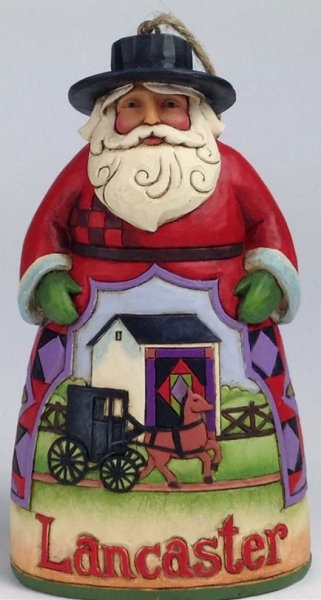 Jim Shore 4037497 Lancaster Santa Aro Ornament