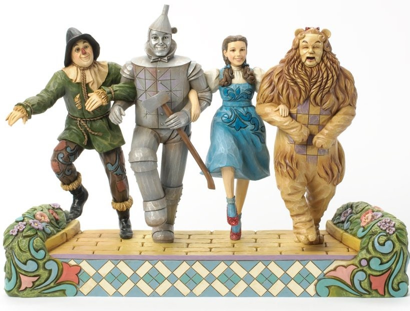 Jim Shore Wizard of Oz 4037528 Arm in arm on Yellow Brick Road Figurine